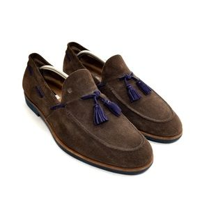 Fratelli Rossetti Brown & Purple Suede Loafers